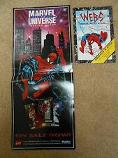 SPIDERMAN MARVEL UNIVERSE PROMO POSTER SKYBOX + STICKER BOOK WEBS COMIC IMAGES