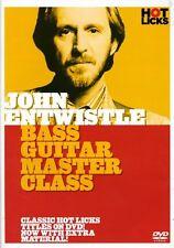 John Entwistle: Bass Guitar Master Class (2006, DVD NEUF)