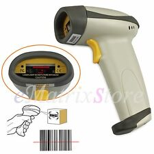 Portable Barcode Scanner POS Handheld USB Laser Bar Code Buzzer Reader Long Scan