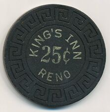 Kings Inn Reno 1st Issue $.25 Cent Chip 1975