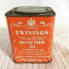 Vintage Twinings Orange Pekoe Tea Tin-4 Oz-Advertising 113g