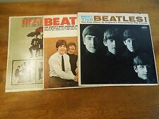 Lot of 3 Vintage Beatles Records LPs Meet the Beatles Beatles VI and Beatles '65