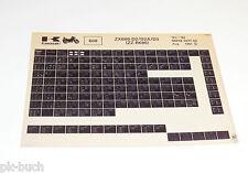 Microfich Ersatzteilkatalog Kawasaki ZZ - R 600 Modelle 1991 - 1992 Stand 08/91
