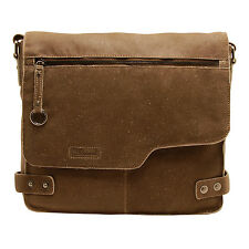 ASHWOOD - ANTIQUE TAN DISTRESSED COW VINTAGE LEATHER CAMDEN MESSENGER BAG