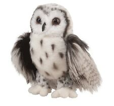 Douglas Cuddle Toys Crescent Silver Owl # 3837 Stuffed Animal Toy