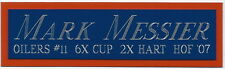 MARK MESSIER OILERS NAMEPLATE AUTOGRAPHED Signed STICK JERSEY PUCK PHOTO HELMET