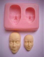 FACES SILICONE MOULD FOR CAKE TOPPERS, CHOCOLATE, CLAY ETC
