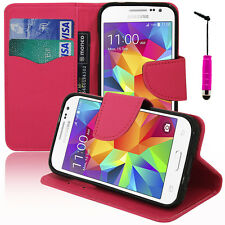 Cover Case Walet PU Effect Fabric Samsung Galaxy Core Premium 4G SM-G361F
