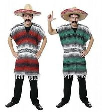 Mexican Poncho Fancy Dress Costume Bandit Western Stag Do Party