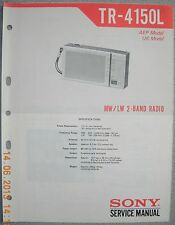 Sony tr4150l 2-band radio service manual