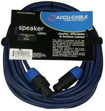 1x10m DJ PA KABEL LAUTSPRECHER KABEL AUDIO KABEL BOXEN KABEL SPEAK-ON  2x2,5qmm