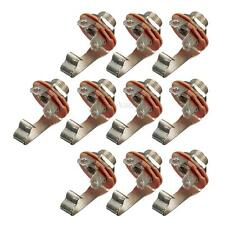 "10x 6.35mm 1/4"" Single Track Mono Electric Bass Guitar Input Jack Audio Socket"