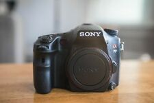 Sony A77 24.3 MP Digital SLR Camera (Body Only) with extra batteries and strap