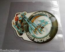 """Hawkwind - Silver Machine 1986 Samurai 7"""" Shaped Picture Disc"""