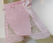 Silky Baby Pink High Waist Full Brief Pinup Style Light Control Panties S