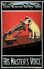 """HMV Nipper """"You Know It By This"""" embossed sign    (hi 3020)"""