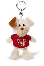 """40156 NICI Bean Bag Schlüsselanhänger Hund mit T-Shirtl """"Hab dich lieb"""""""
