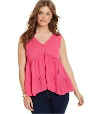 New size Small Jessica Simpson CHIFFON PINK FASHION DIVA WOMENS TANK TOP SHIRT