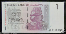 ZIMBABWE PAPER MONEY 1 DOLLAR 2007 UNC