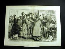 Swain WOMEN'S RIGHT to VOTE -- GENERAL ELECTION 1880 Large Folio Engraving