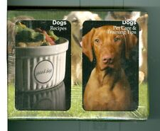 "Two Decks Playing Cards ""108 Dog Recipes/Pet Care"" by Finders Forum, Canada"
