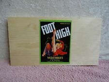 FOOT HIGH SEXY GIRL  CALIFORNIA WOOD FRUIT BOX PANEL END WINE GRAPE