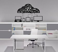 A computer Gadgets phone message Stylish Wall Art Sticker Decal 8820