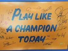 16 Notre Dame Football Greats Signed 20x30 Play Like a Champion Photo Steiner
