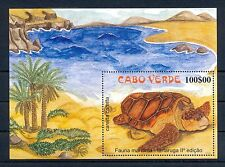 PORTUGAL CABO VERDE 1 Bl.  ** MNH  VF  -TURTLE TORTUE TORTOISE-  @43