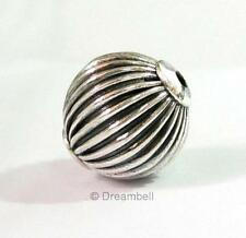 Bali Sterling Silver Focal Round Corrugrated Bead 15mm NB168bx1