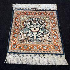 Seidenteppich Hereke 34 x 31 cm Orient Teppich Seide Turkish Silk Carpet Tappeto