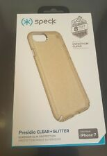 Speck Presidio Gold Glitter/Clear Case  for iPhone 7 Original Speck Case NEW