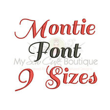 Montie Alphabet Embroidery Fonts Machine Embroidery Design - IMPFCD43