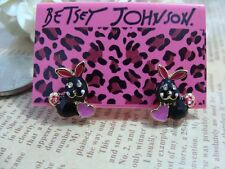 NEW Charm Betsey Johnson Beautiful Crystal Love Bunny Alloy BJ Earrings BJEA012