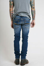 sizes 29 30 33 34 - NUDIE jeans TAPE TED RADDLED REDCAST slim skinny fit blue