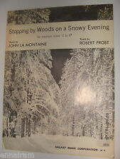Robert Frost Stopping by Woods on a Snowy Evening 1963 sheet music Med Voice