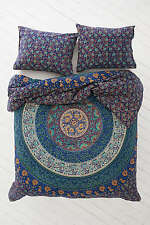 Twin Indian Wall Hanging Hippie Mandala Tapestry Bohemian Blue Bedspread Throw