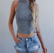 Sold Out! Brandy Melville Gray Speckled  ribbed turtleneck Franka Knit Top S/M