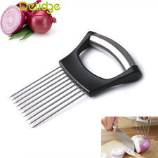 Onion Holder Easy Cut & Slice Hand Held Tomato Potato Veg Kitchen Slicer