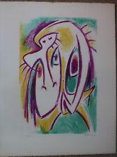 Gérard VULLIAMY - Lithographie signée numérotée personnages surréalistes 1972