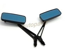 New Black Rectangle Rearview Mirrors For Harley Softail Sportster Chopper Bobber