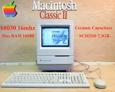  1991 Apple Macintosh Mac Classic II -New Capacitors / 7.3GB SCSI2SD / Max RAM