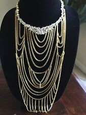 Baublebar Flaxen Bib Antique Gold MSRP $68