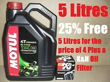 5L MOTUL 5100 10W40 OIL AND K&N KN138 FILTER CHANGE SUZUKI GSF1200 K2 02 2002