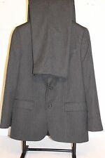 Merona Classic Vented 42R Men's Gray Stripes Suit Pants W36X31L Made in India