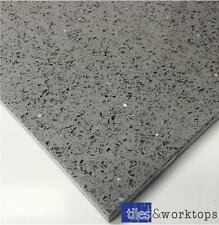 SAMPLE of Grey Quartz Stardust Starlight Mirror Tiles £41.99 m2 Inc Vat - 60x60