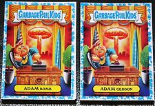 2017 GARBAGE PAIL KIDS ADAM GEDDON COMPLETE SPIT BLUE 180 CARDS COLLECTOR ED