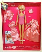 NRFB SPARKLING PINK Barbie Doll & Fashions GIFT SET