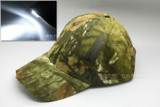 Tree Camouflage Hunting Fishing Nightl Cap with 5 LED Lights/Batteries included