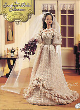 Wedding Day, Annie's Southern Belle Collection crochet patterns fit Barbie dolls